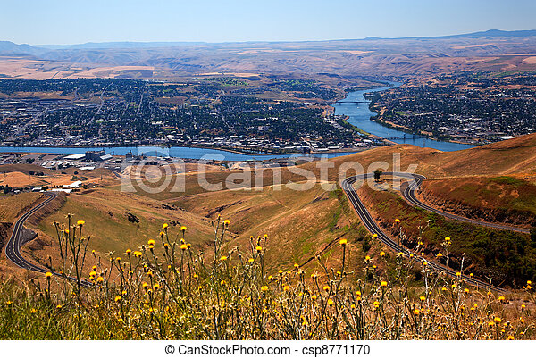 Lewiston Hill Snake River Idaho - csp8771170