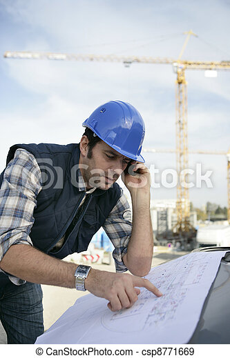 Foreman checking plan - csp8771669