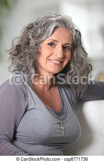 Youthful senior woman - csp8771736