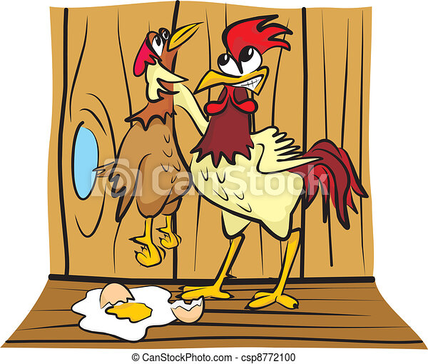 in the hen house - arguing - csp8772100