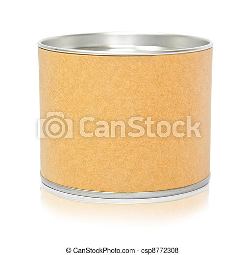 Cylinder container isolated  - csp8772308