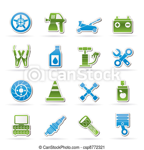 Transportation and car repair icons - csp8772321