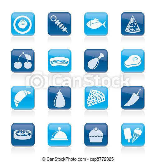 Different kind of food icons - csp8772325