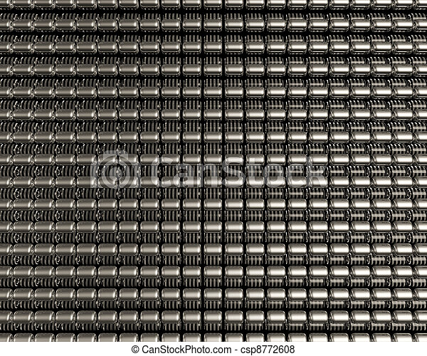 Jewelry ornament background design made from metallic seed beads. Luxury jewelry background.