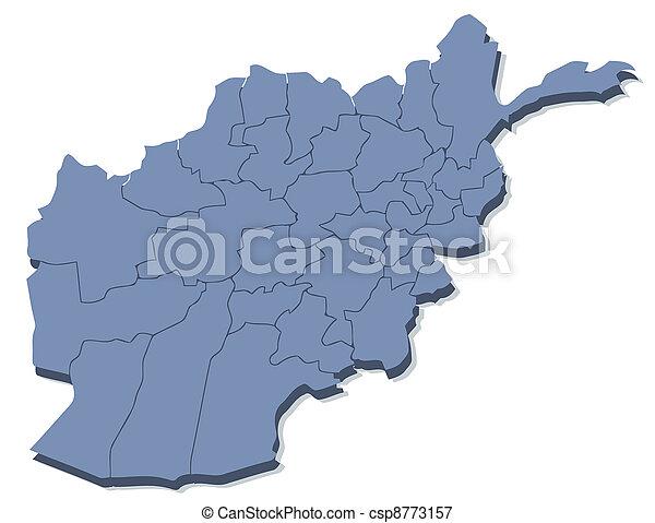 vector map of Afghanistan - csp8773157