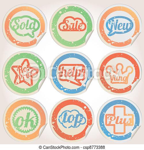 Set of vintage retro badges - csp8773388
