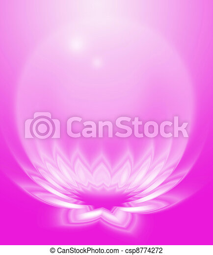 Pink abstract lotus - csp8774272
