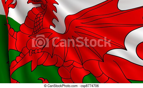 Flag of Wales - csp8774706