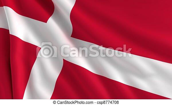 Flag of Denmark - csp8774708