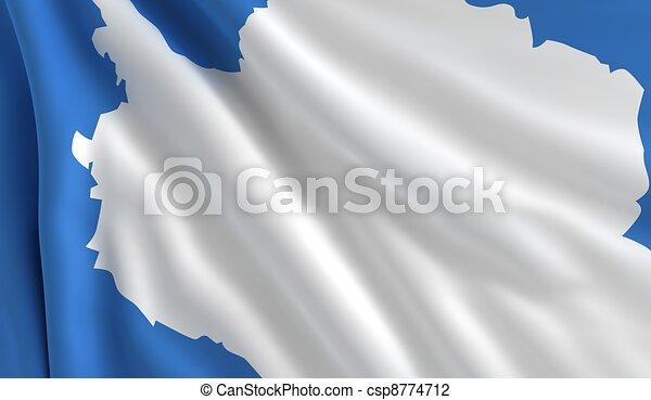 Flag of Antarctica - csp8774712