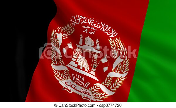 Flag of Afghanistan - csp8774720