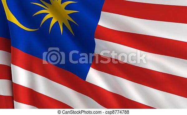 Flag of Malaysia - csp8774788
