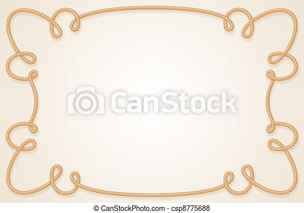 Rope Frame - csp8775688