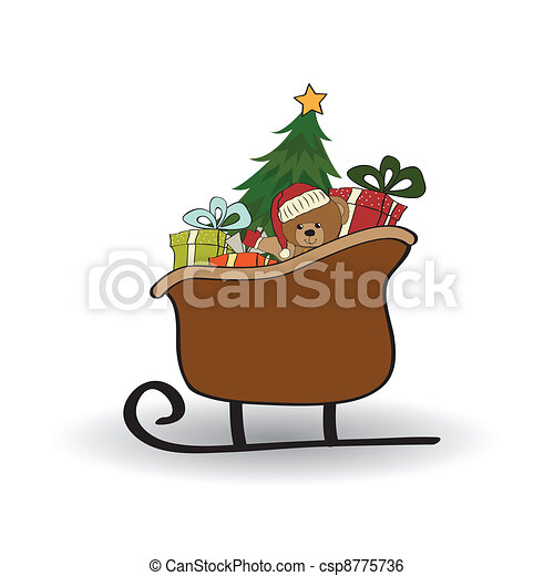 Christmas sleigh  - csp8775736