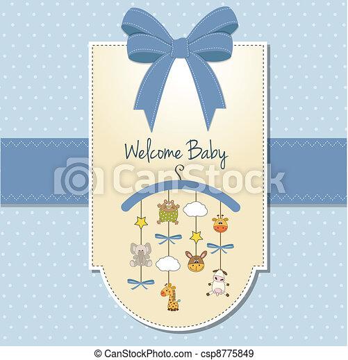 delicate baby boy shower card - csp8775849