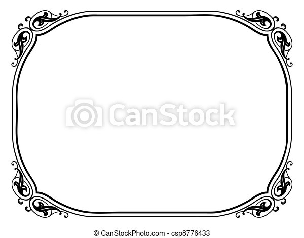 simple ornamental decorative frame - csp8776433