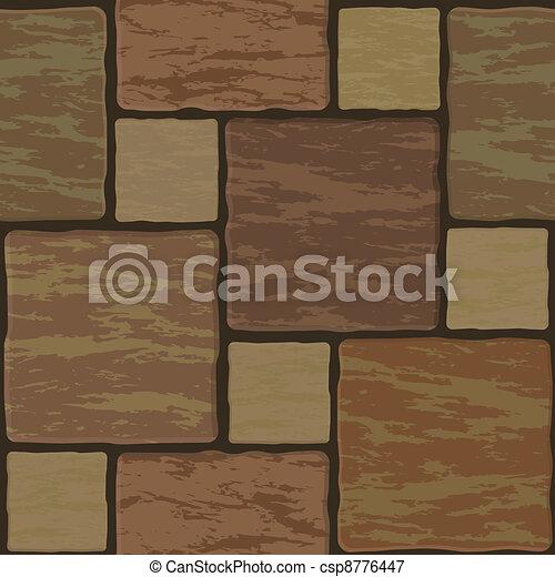 Seamless texture of stonewall tile - csp8776447