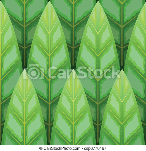 leaf wood row seamless background - csp8776467