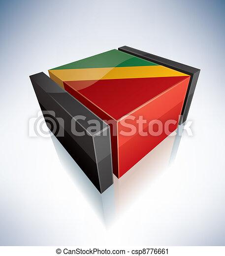 3D flag of Congo - csp8776661