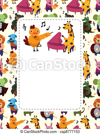animal play music card - csp8777153