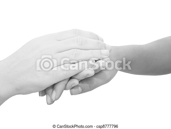 Hands expressing symbolic sympathies while holding each other  - csp8777796
