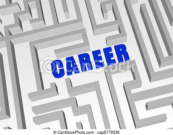 blue career in labyrinth - csp8779336