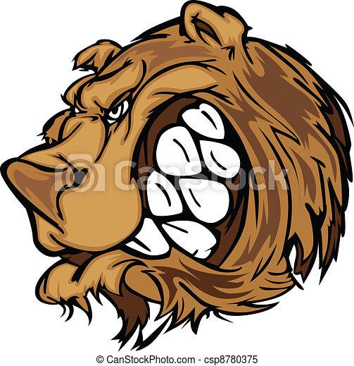 Bear Grizzly Mascot Head Vector Car - csp8780375