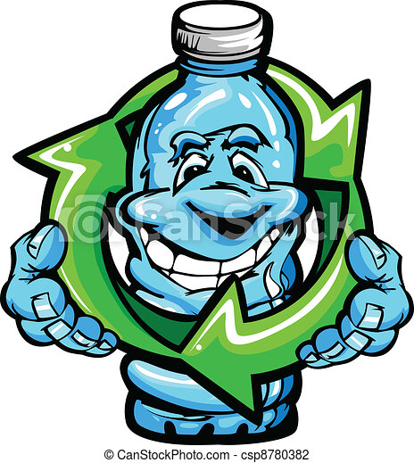 Happy Cartoon Plastic Water Bottle  - csp8780382