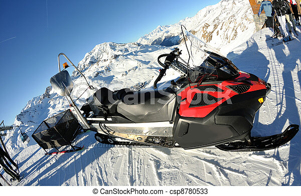 snow sledge mobile - csp8780533