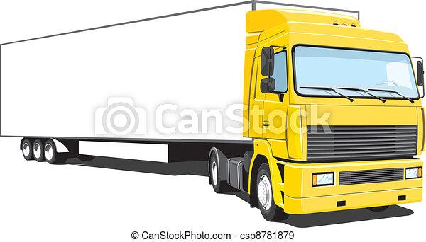Semi truck - csp8781879