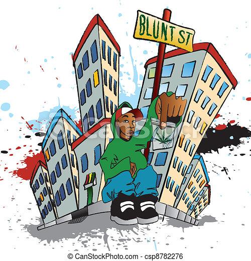 Urban Ghetto Drawings Ghetto Blunt Street