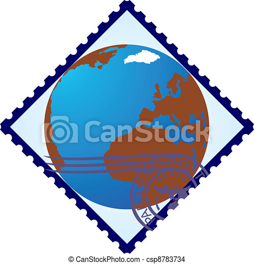 Postage stamp. Land - csp8783734