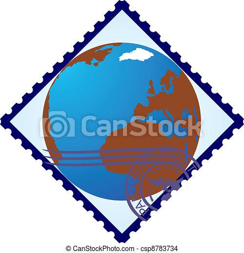 Postage stamp. Land - csp8783734