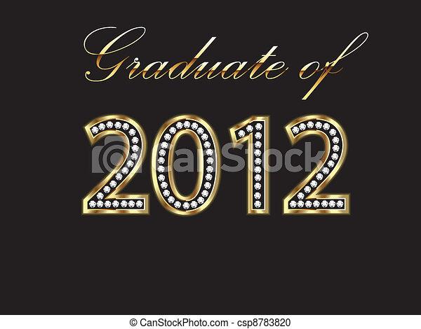Graduate of 2012 - csp8783820