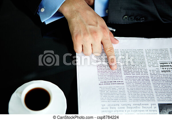 Pointing at article - csp8784224