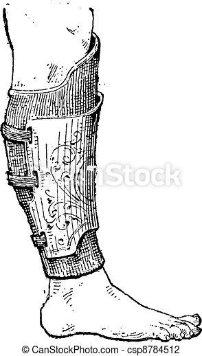 Pad (armor), vintage engraving. - csp8784512