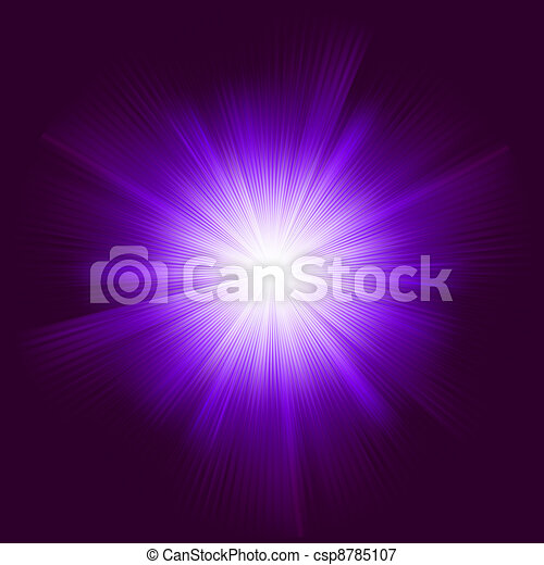 Lens flare vector background. EPS 8 - csp8785107
