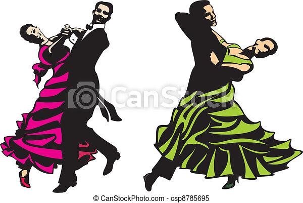 ballroom dancing - standard, latino - csp8785695
