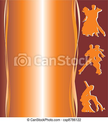 ballroom dancing poster - csp8786122
