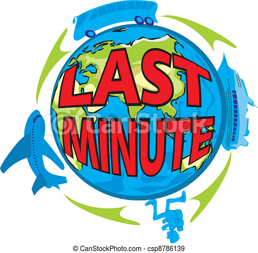 last minute - holiday - csp8786139