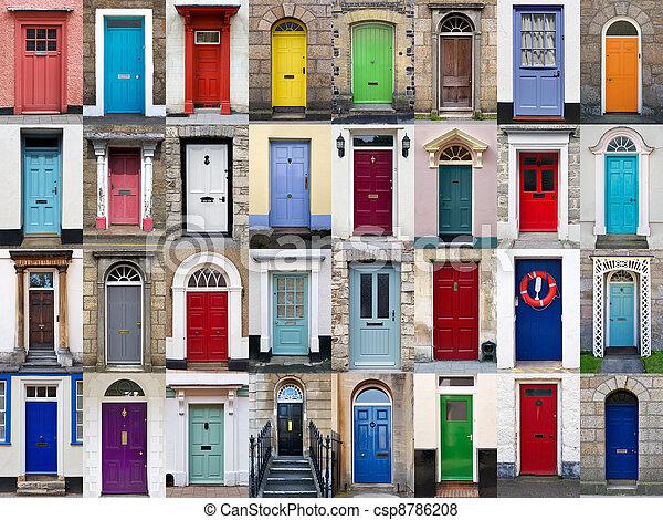 32 front doors horizontal collage  - csp8786208
