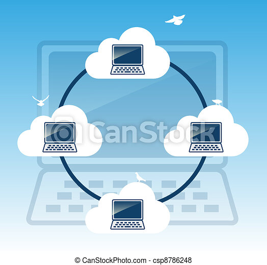 Cloud computing concept. - csp8786248
