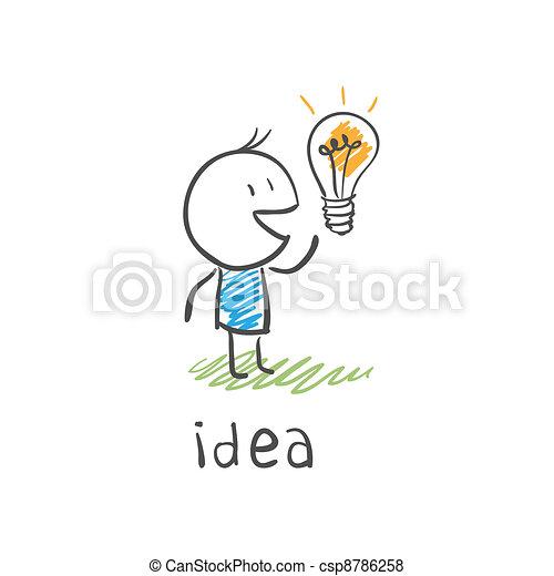 concept bulb drawing - csp8786258