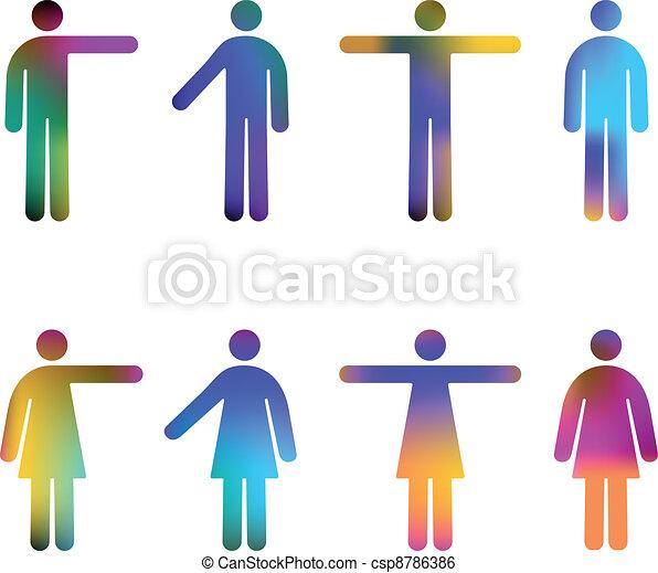 People Pictograms Colours - csp8786386