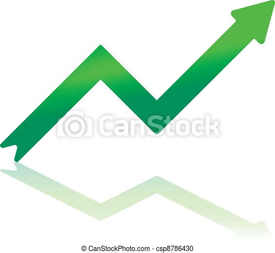 Gradient Green Growth Arrow - csp8786430