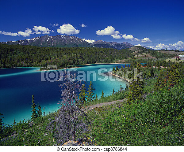 Smaragd lake in Yukon - csp8786844