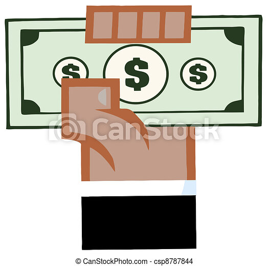 African American Hand With Cash - csp8787844