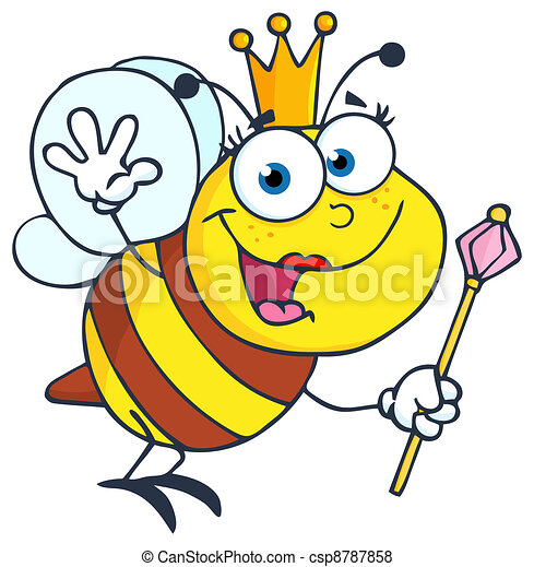 Queen Bee  Waving For Greeting - csp8787858