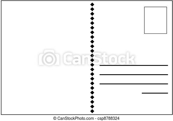 Dessin de carte postale - uni, blanc, carte postale, dos csp8788324 - Recherchez des ...