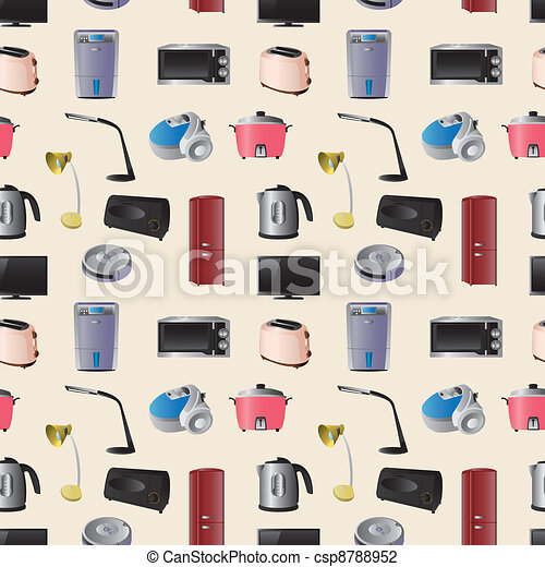 Household appliances seamless pattern - csp8788952